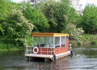 Das Biberfloß auf dem Finowkanal, Foto: Europ. Regionaler Förderverein e.V.