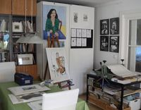 Blick ins Atelier Reblin, Foto: Maren Reblin